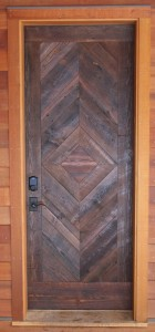 Heart Pine hardwood door