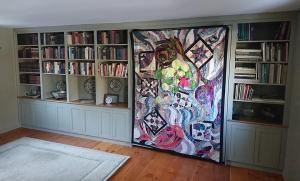 "The quilt was made by Mary Shepley in 2005 and is called ""Metaphor"""