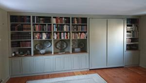 Beautiful Bookcase beautiful bookcase & Murphy bed I built late last year.