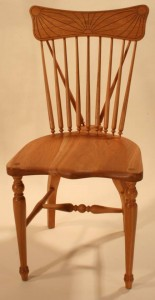 Black Cherry Braceback chair